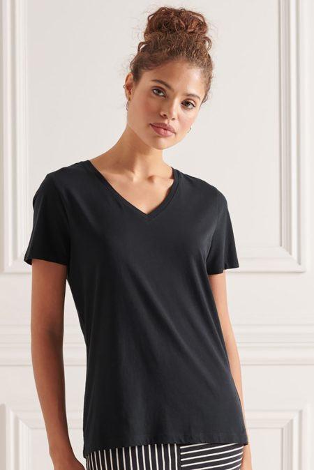 Superdry Essential Vee T Shirt (W1010543A-01C)-1